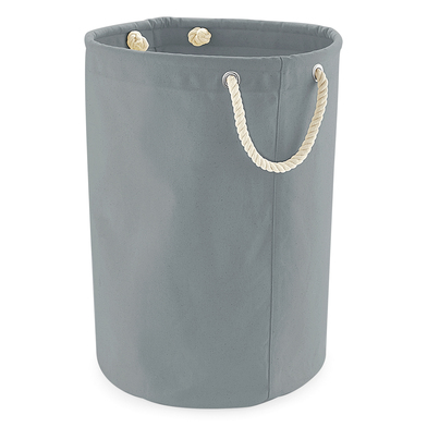 Heavy Canvas Storage Trug In Pure Grey