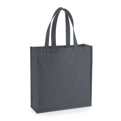 Gallery Canvas Tote In Graphite Grey