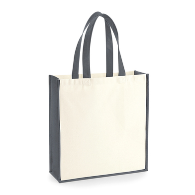 Gallery Canvas Tote In Natural/ Graphite Grey