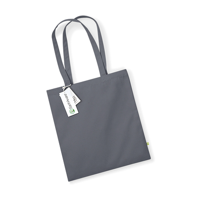 EarthAware Organic Bag For Life In Graphite Grey