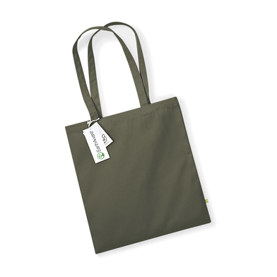 EarthAware Organic Bag For Life In Olive Green