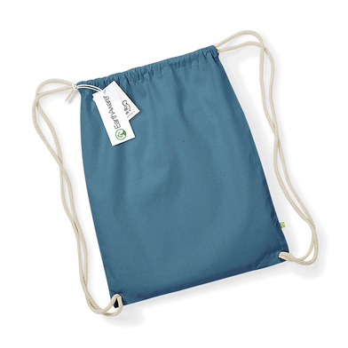 EarthAware Organic Gymsac In Airforce Blue