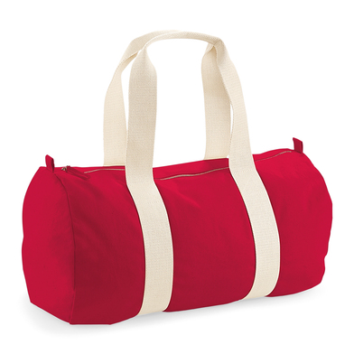 EarthAware� Organic Barrel Bag In Classic Red