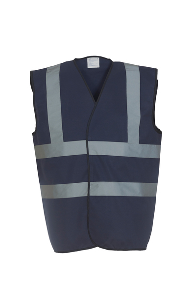 Hi-vis 2-band-and-braces Waistcoat (HVW100) In Navy