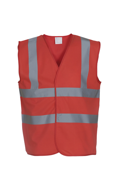 Hi-vis 2-band-and-braces Waistcoat (HVW100) In Red