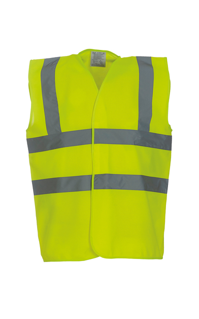 Hi-vis 2-band-and-braces Waistcoat (HVW100) In Yellow