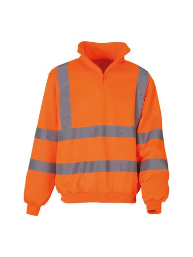 Hi-vis _ Zip Sweatshirt (HVK06) In Orange