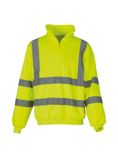 Hi-vis _ Zip Sweatshirt (HVK06) In Yellow