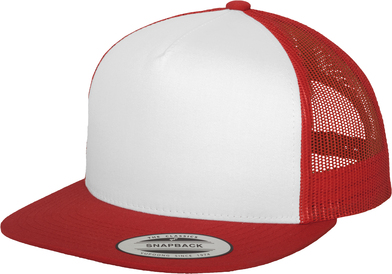 Classic Trucker (6006W) In Red/White/Red