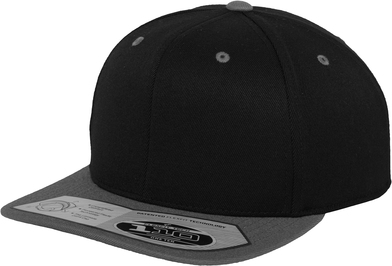 110 Fitted Snapback (110) In Black / Grey