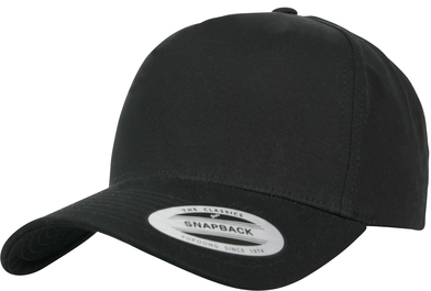 5-panel Curved Classic Snapback (7707) In Black