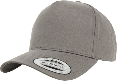5-panel Curved Classic Snapback (7707) In Grey