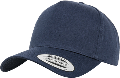 5-panel Curved Classic Snapback (7707) In Navy