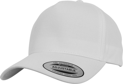 5-panel Curved Classic Snapback (7707) In White