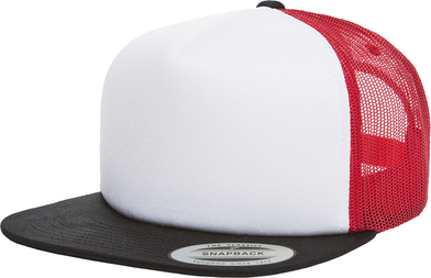 Foam Trucker With White Front (6005FW) In Black/White/Red