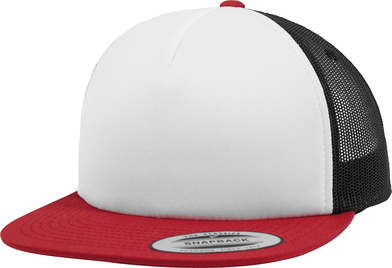 Foam Trucker With White Front (6005FW) In Red/White/Black