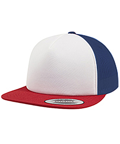 Foam Trucker With White Front (6005FW) In Red/White/Royal