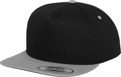 Classic 5-panel Snapback (6007T) In Black/Silver