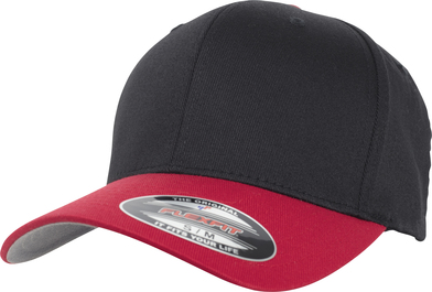 Flexfit Woolly Combed 2-tone (6277T) In Black/Red