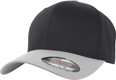 Flexfit Woolly Combed 2-tone (6277T) In Black/Silver