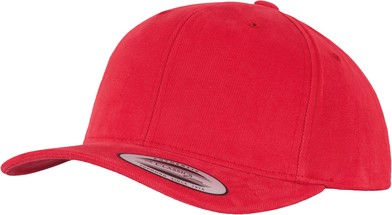 Brushed Cotton Twill Mid-profile (6363V) In Red