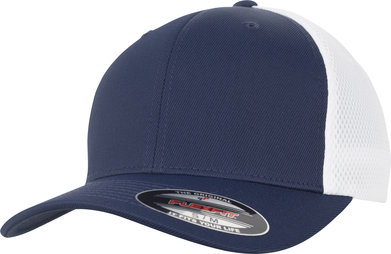 Flexfit Ultra-fibre And Airmesh 2-tone (6533T) In Navy/White