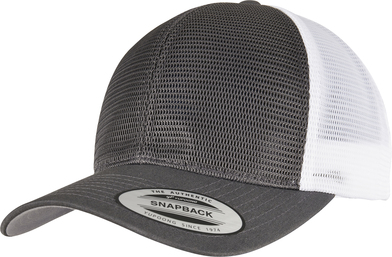 360 Omnimesh 2-tone Cap (6360T) In Charcoal /   White